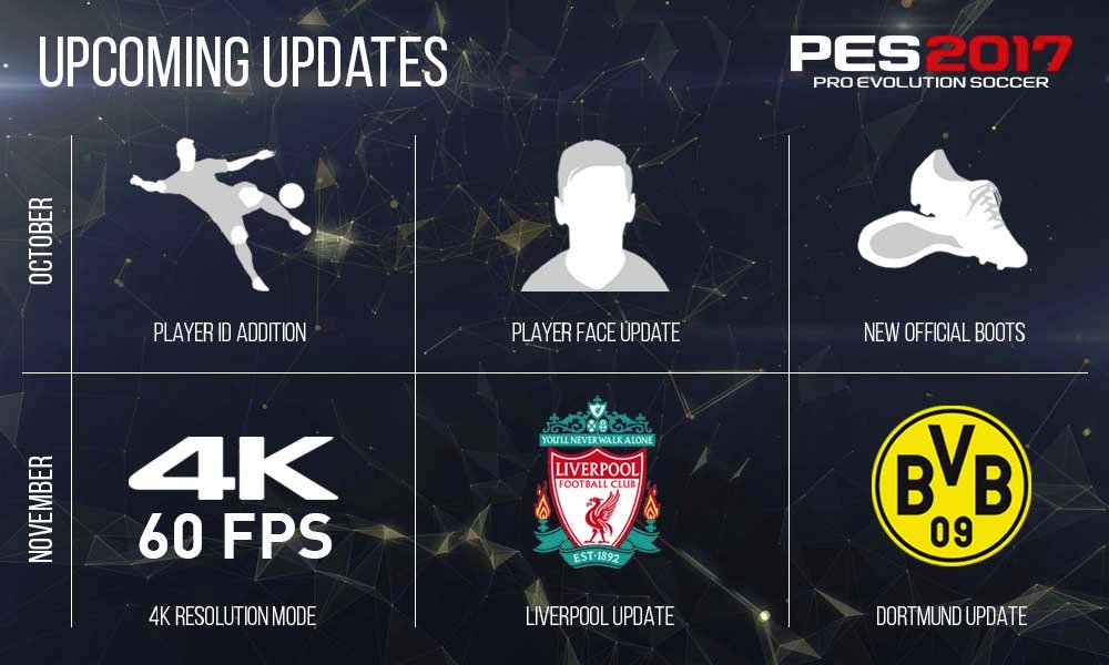 Pro Evolution Soccer update